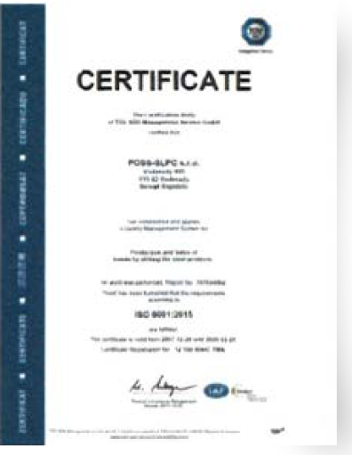 Sme držiteľmi certifikátov  ISO 9001 2015 d2403ede6b5